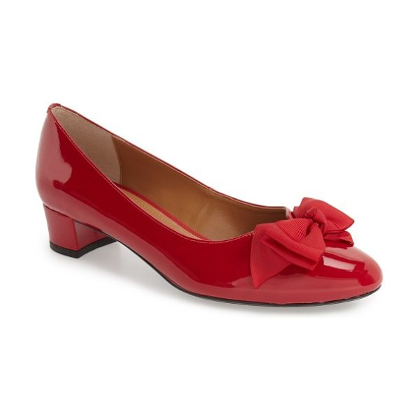 J. Renee 'cameo' bow pump in red faux patent