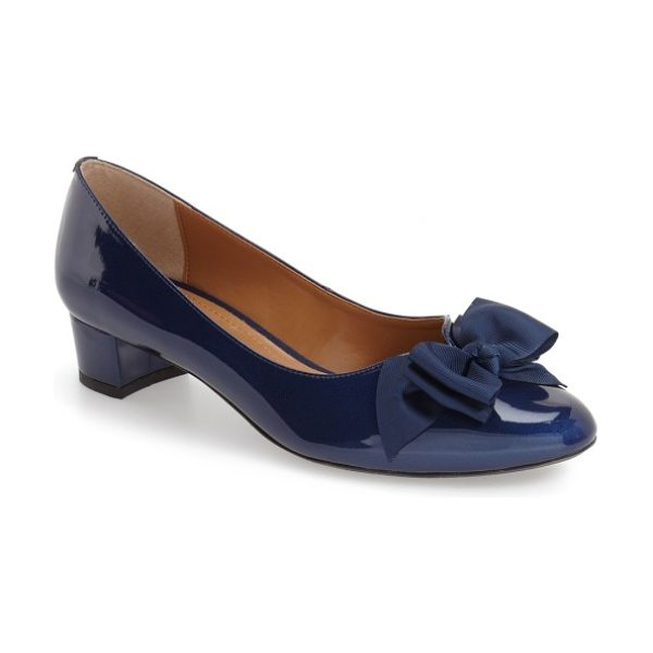 J. Renee 'cameo' bow pump in navy faux patent