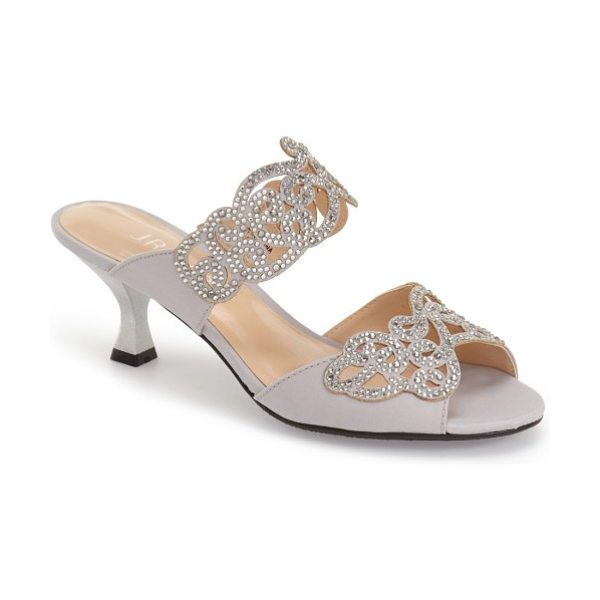 J. Renee 'francie' evening sandal in silver