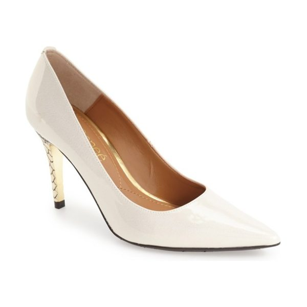 J. Renee maressa pointed toe pump in cream faux patent