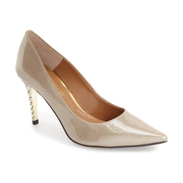 J. Renee maressa pointed toe pump in taupe faux patent