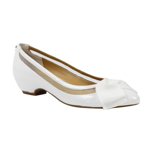 J. Renee taroona pump in white faux patent leather