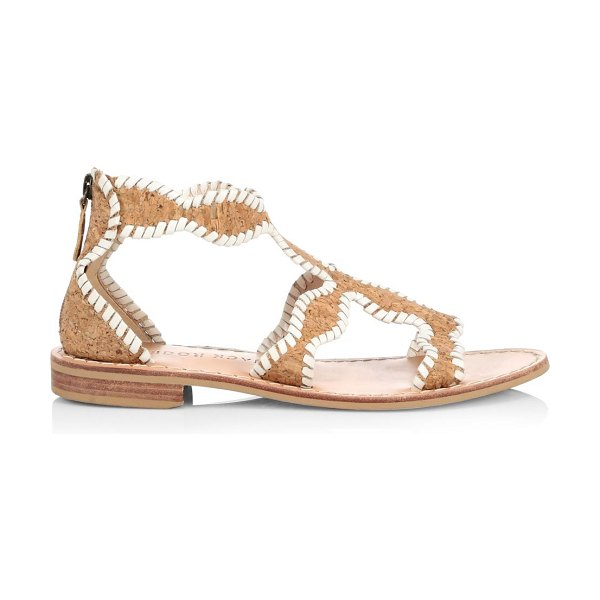 Jack Rogers jackie whipstitch leather & cork gladiator sandals in cork