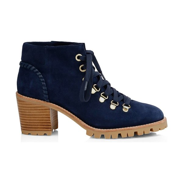 Jack Rogers poppy suede hiking boots in midnight