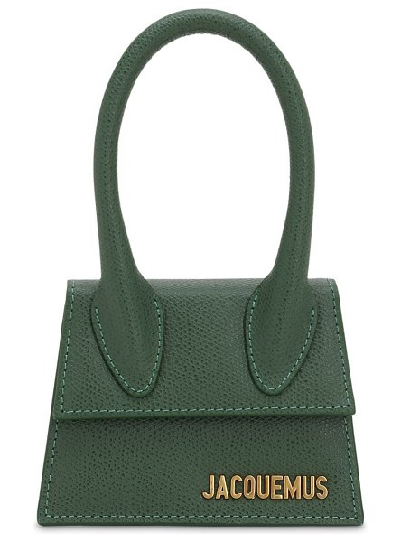 JACQUEMUS Le chiquito grained leather bag in dark green