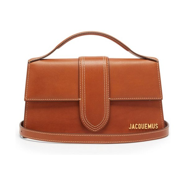 JACQUEMUS le grand bambino leather bag in brown