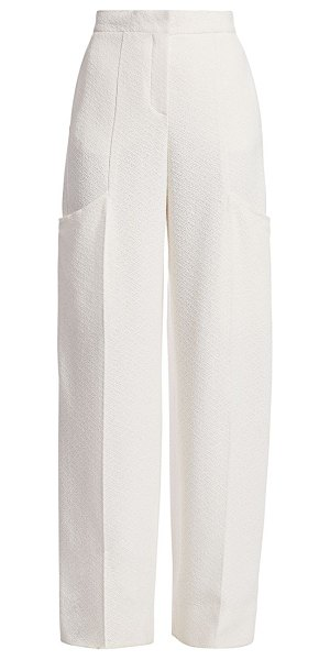 JACQUEMUS le pantalon moyo high-rise trousers in white