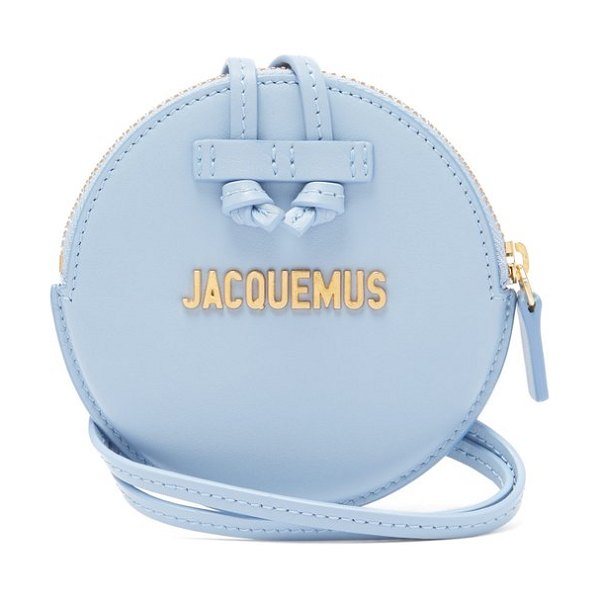 JACQUEMUS Le Pitchou Leather Coin Purse Bag in light blue - Jacquemus - Jacquemus is one of the biggest forces...