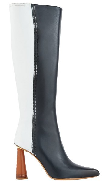 JACQUEMUS Leon boots in green/white/camel