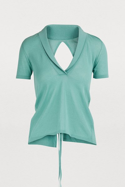 JACQUEMUS Marinaio top in mint - Jacquemus subverts the heritage fashion of the 1970s...