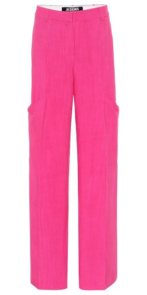 JACQUEMUS moyo high-rise pants in pink