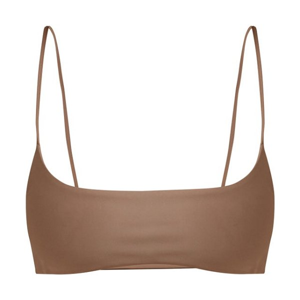 JADE Swim muse scoop bikini top in nude - Jade Swim - Crafted with shape-retention technology,...