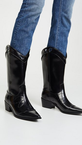 JAGGAR tall western boots in black