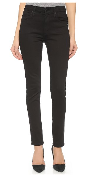 James Jeans high class skinny jeans in flat black