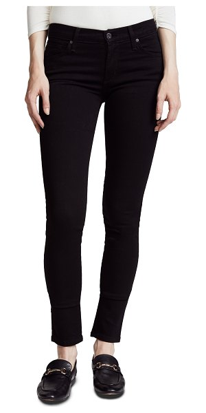 James Jeans twiggy 5 pocket skinny jeans in black clean