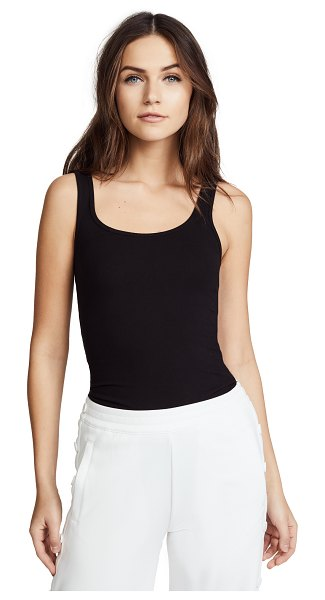 James Perse brushed jersey long tank in black