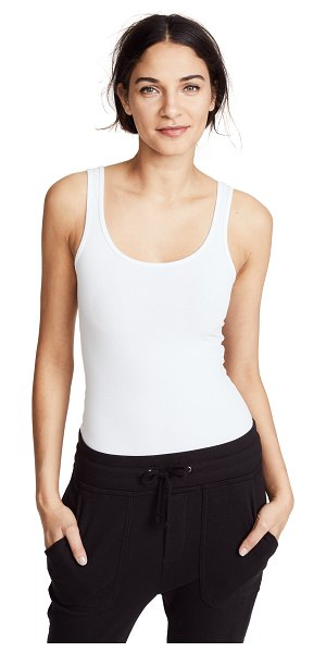 James Perse brushed jersey long tank in white