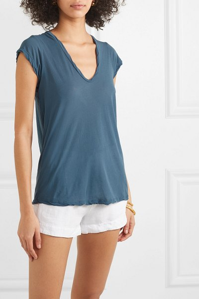 James Perse cotton-jersey t-shirt in teal