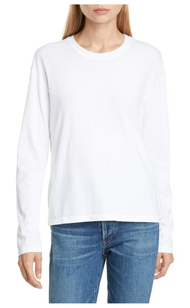 James Perse long sleeve vintage boxy tee in white