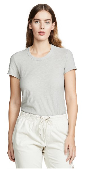 James Perse sheer slub crew neck tee in rhodium