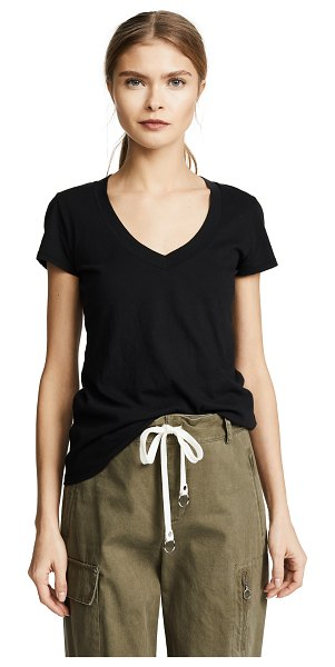 James Perse short sleeve v neck tee in black