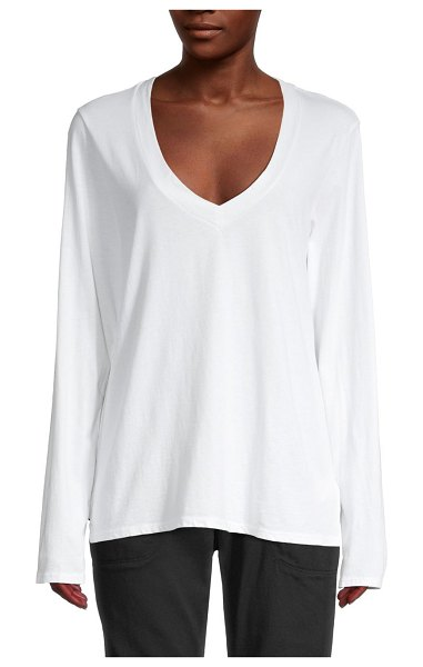 James Perse V-Neck Top in white