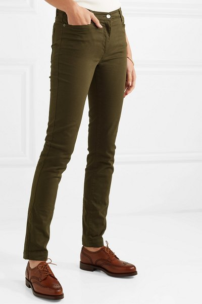 James Purdey & Sons mid-rise skinny jeans in army green