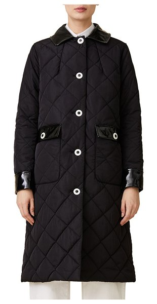 JANE POST long quilted coat in black