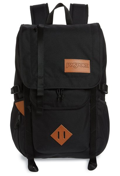 Jansport hatchet backpack in black - Durable tech canvas ensures long-wearing style for this...