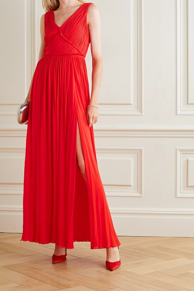 Jason Wu Collection gathered stretch-jersey gown in red