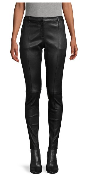 Jason Wu Collection Leather Stovepipe Pants in black