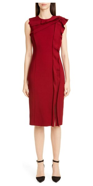 Jason Wu Collection ruffle sheath dress in garnet