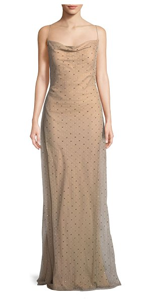 Jason Wu Point D\'esprit Cowl-Neck Slip Evening Gown With Crystals in ...