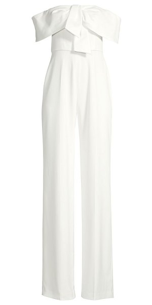 Jay Godfrey gaggi off-the-shoulder jumpsuit in light ivory