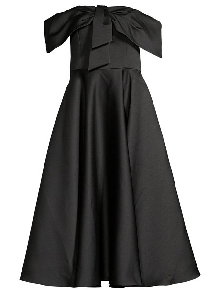 Jay Godfrey knight bow-front off-the-shoulder dress in black