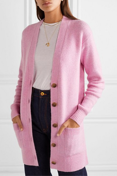 J.Crew knitted cardigan in baby pink