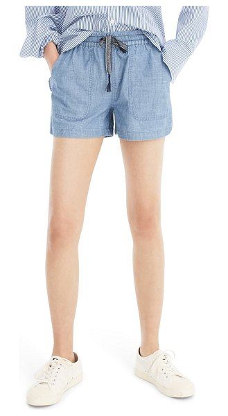 J.Crew point sur seaside chambray shorts in oasis blue