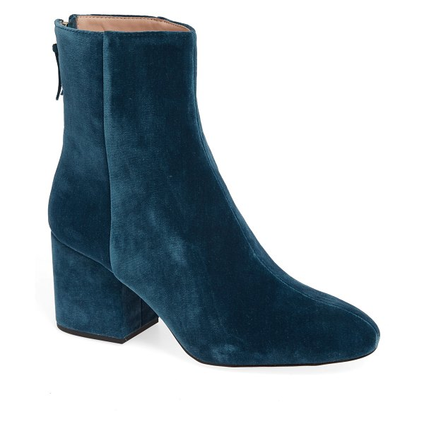 J.Crew sadie velvet ankle bootie in women~~shoes~~boots - Meet your new favorite everyday ankle boot, in superluxe...