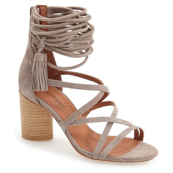 Jeffrey Campbell 'despina' strappy sandal in taupe suede
