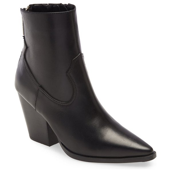 Jeffrey Campbell jeffery campbell lesley leather bootie in black