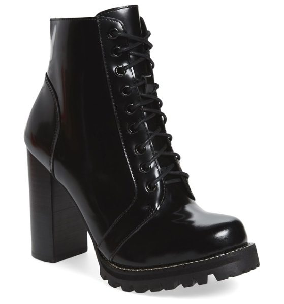 Jeffrey Campbell 'legion' high heel boot in black box leather