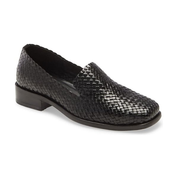 Jeffrey Campbell lemare loafer in black weave