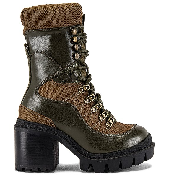 Jeffrey Campbell maniac lace up boot in khaki