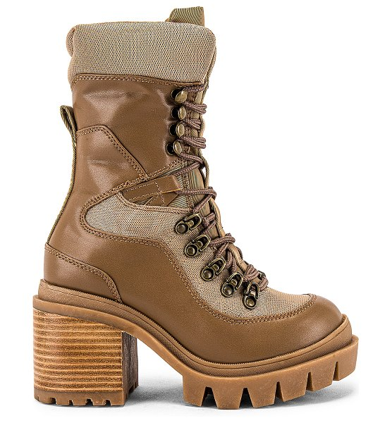 Jeffrey Campbell maniac lace up boot in natural combo