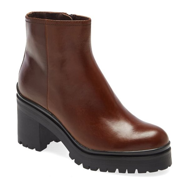Jeffrey Campbell tracker platform bootie in brown
