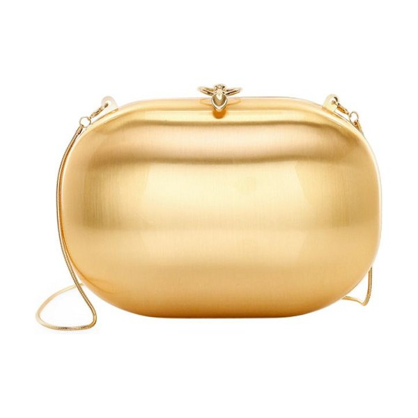 Jeffrey Levinson elina aerospace aluminum clutch in gold,champagne