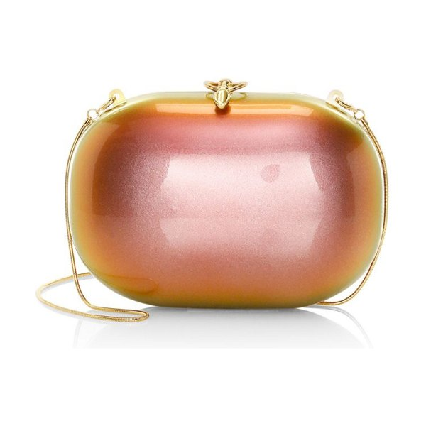 Jeffrey Levinson elina sunset pearl gloss clutch in sunset,rainbow
