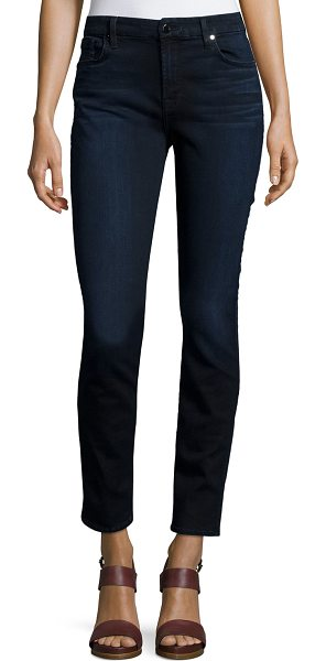 Jen7 Riche Touch Skinny Ankle Jeans in classic blue/blk