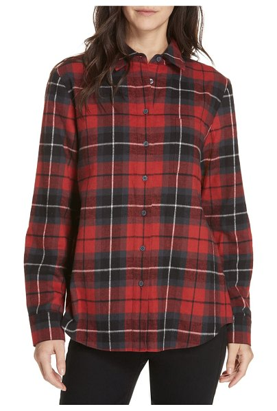Jenni Kayne plaid shirt in red - A cozy shirt that will be your weekend mainstay is made...