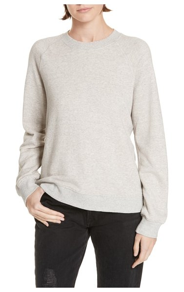 Jenni Kayne sweatshirt in oatmeal - A classic crewneck sweatshirt gets a luxurious update...